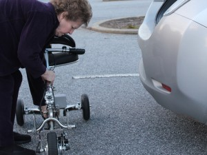 folding the lightweight mobility scooter